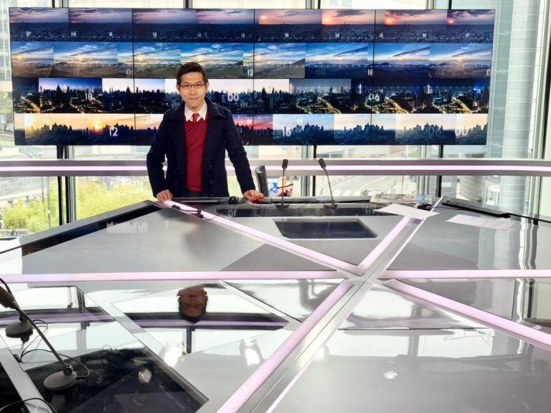 張經義在法國新聞台CNews
