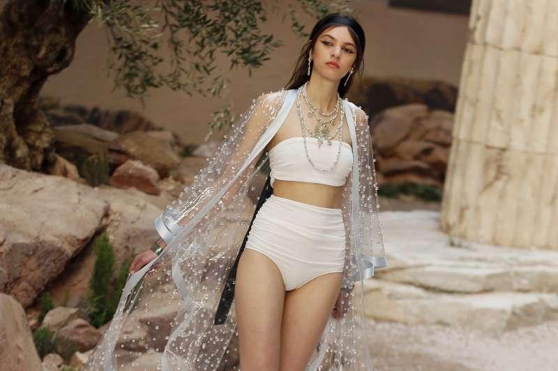 2017年5月巴黎時裝周的模特兒(AP)