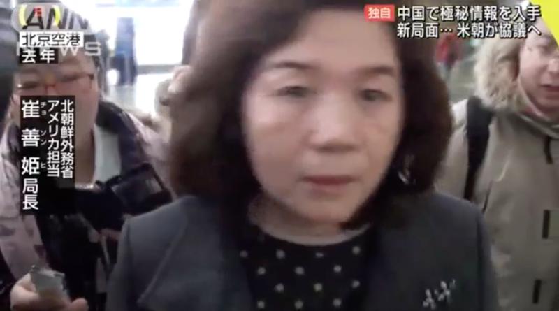北韓外交部北美局局長崔善姬。(翻攝Youtube)