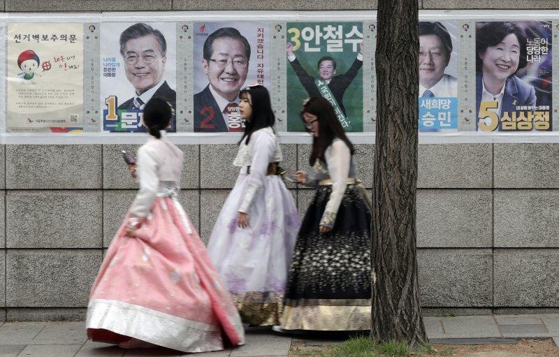 南韓總統大選出口民調9日晚間出爐,共同民主黨文在寅以 %得票率出線,總統缺位153天的惡夢也將結束。(美聯社)