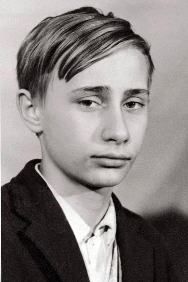 少年時代的普京。(取自網路)