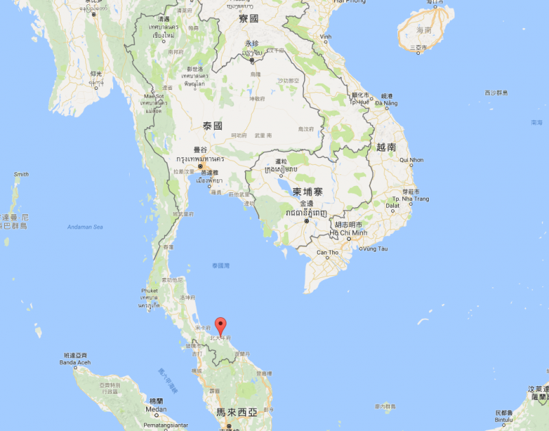 泰國南部北大年省驚傳連環爆炸案,共約40人傷。(圖/截自Google地圖)