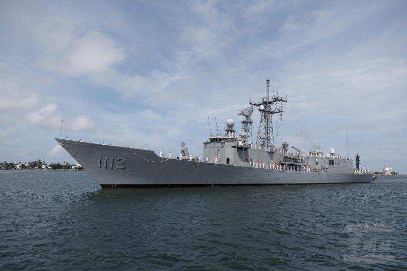 我國向美國所採購派里級巡防艦-銘傳軍艦(PFG-1112)13日上午駛進左營軍港。(軍聞社)