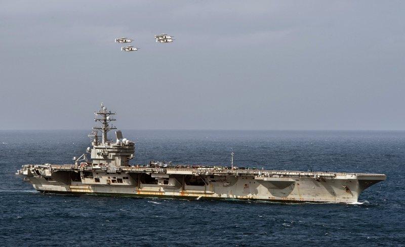 美國海軍雷根號核動力航空母艦。(美國海軍官網)
