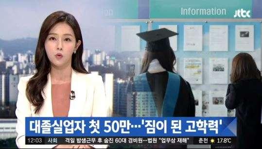 南韓高學歷失業人口首次突破50萬,許多民眾為求高薪選擇進修,沒想到工作供不應求。(翻攝影片)