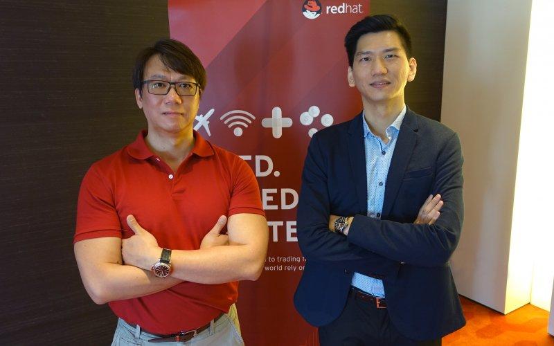 紅帽台灣及香港分享連續60個季度強勁成長的驅動力、最熱門的企業技術話題、全球客戶大規模部署的案例。(圖/紅帽提供)