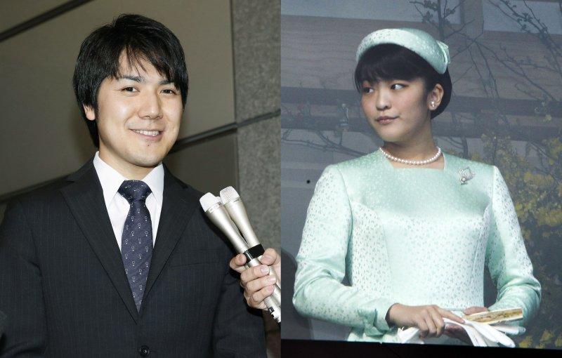 日本明仁天皇的長孫女真子公主與未婚夫小室圭(AP)