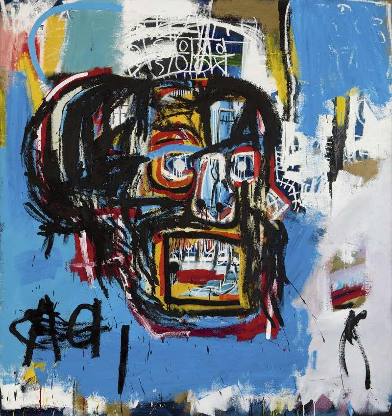 美國藝術家巴斯奇亞(Jean-Michel Basquiat)創下拍賣記錄的作品《無題》(Untitled)(AP)