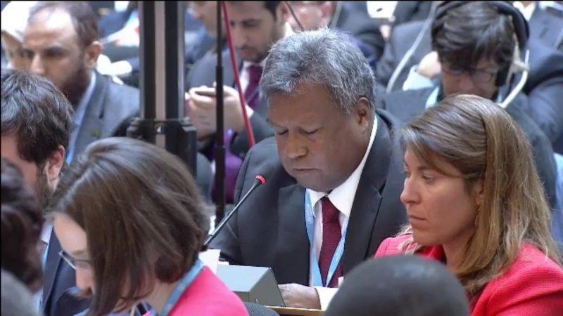 世界衛生大會(WHA)22日討論是否將「邀請台灣以觀察員身分參與世界衛生大會」列入議程,友邦帛琉代表發言支持