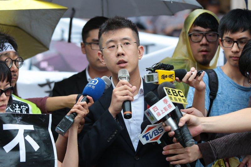 20170525-幸福盟後同代表郭大衛25日於釋憲結果公佈後,在司法院外召開記者會。(顏麟宇攝)