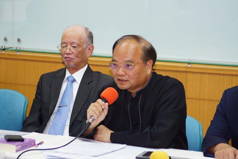 20170525-全國宗教大聯盟記者會,張明致發言。(盧逸峰攝)