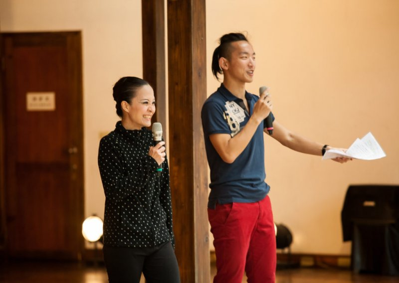 臺灣芭蕾舞團其中兩位發起人:莊媛婷(左)、王永同(右)。(圖/Vstory提供)