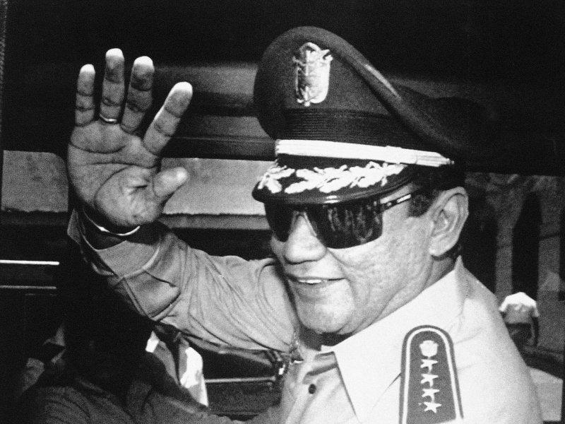 諾瑞加自始至終都沒有當過巴拿馬總統,卻是實質最高領導人。(AP)