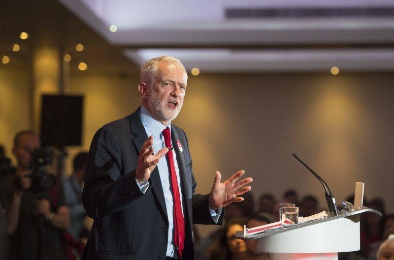 英國工黨領袖柯賓,以福利政策為重的政見吸引不少選票,但電視辯論表現不佳。(美聯社)