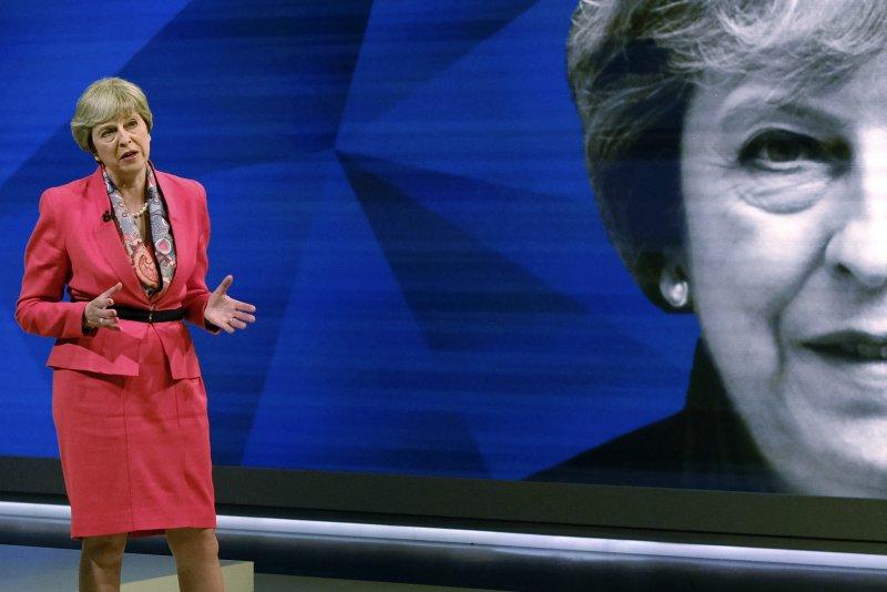 梅伊帶領的保守黨若未獲得絕對多數席位,將不利於脫歐談判發展。(美聯社)