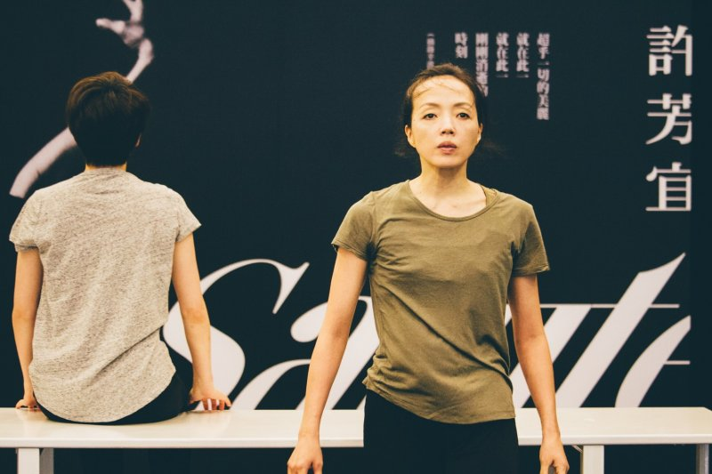 20170601-許芳宜在記者會演出《我心我行》片段。(兩廳院提供)