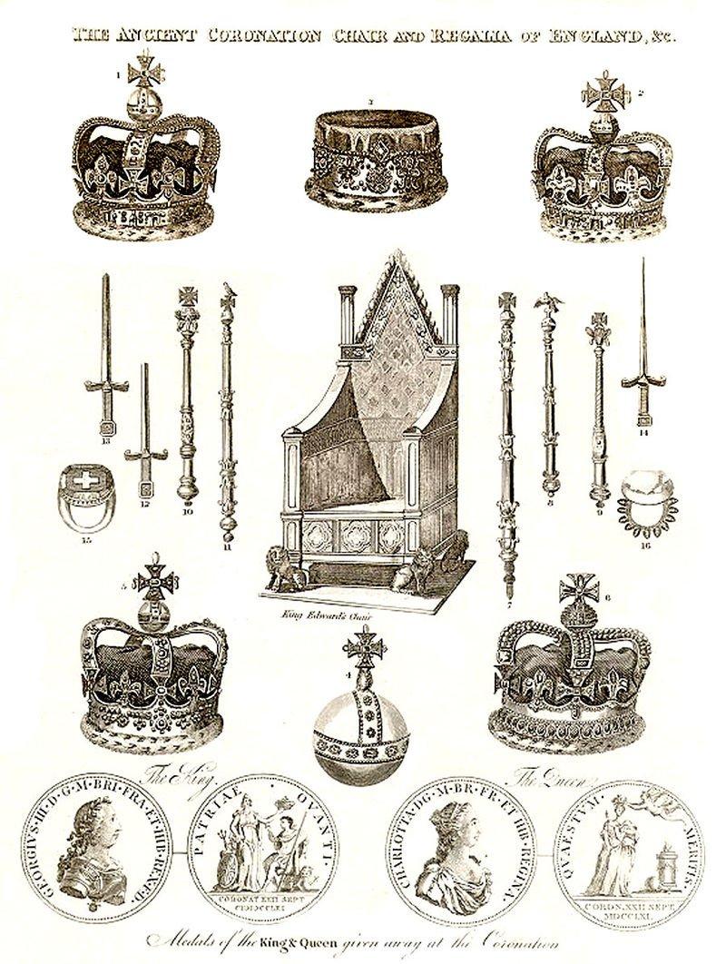 加冕儀式中的使用的器具。(wikipedia/public domain)