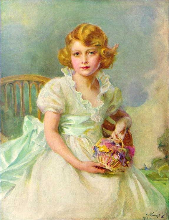 7歲的伊麗莎白二世女王的畫像。(wikipedia/public domain)