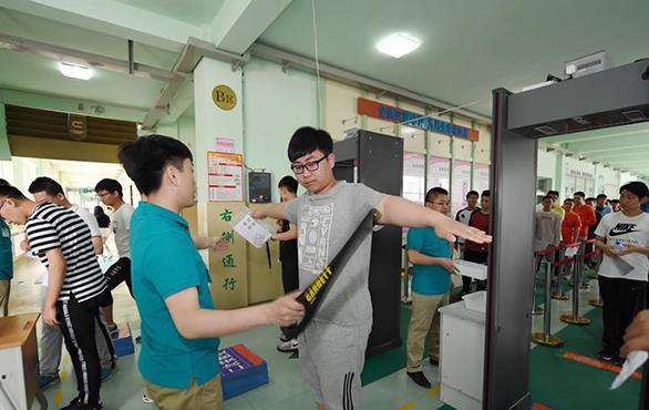 中國高考防弊手段年年升級,嚴格預防作弊發生。(新華社)