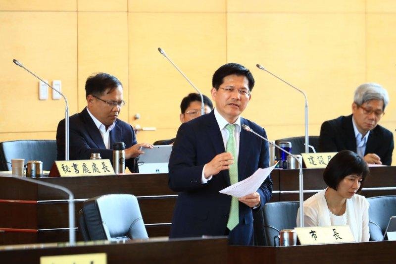 市長林佳龍不接受「強佔」說,強調會加強溝通。(圖/諸葛志一攝)