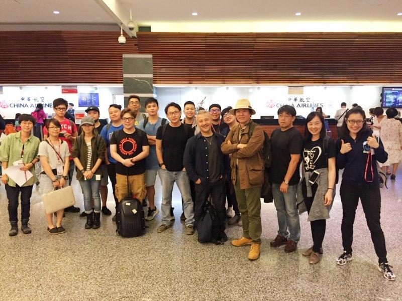 朱宗慶打擊樂團及幕後技術人員於台北時間6月8日晚間啟程至俄羅斯。(圖由朱宗慶打擊樂團隊提供)