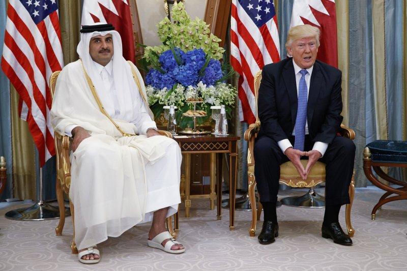 川普9日承認,策畫了中東各國對卡達的圍堵。(美聯社)