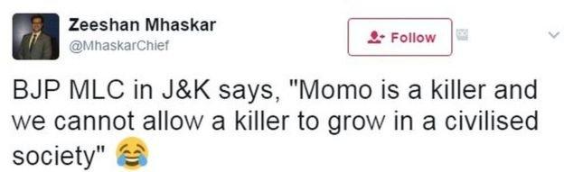 呵呵。人民黨說了,饃饃是殺手,不能讓殺手存在於文明社會。(BBC中文網)