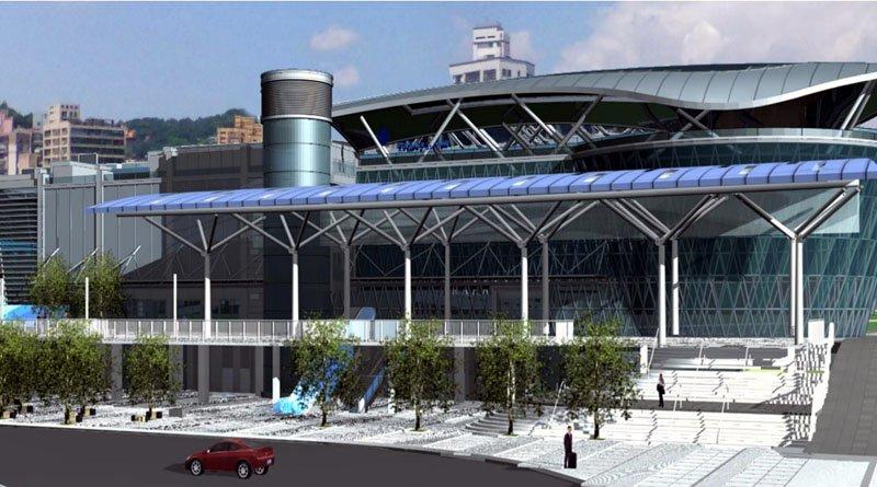未來火車站南站廣場示意圖。(圖/基隆市政府提供)