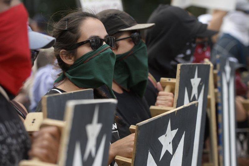 支持波多黎各獨立的民眾抗議。(美聯社)