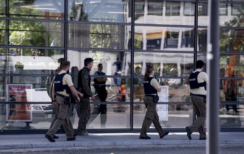 慕尼黑車站傳槍響 一名女警頭部中彈、數人受傷。(美聯社)