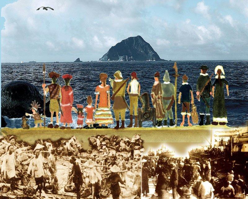 基隆嶼是古早基隆人的海上路標。(圖/基隆市文化局提供)