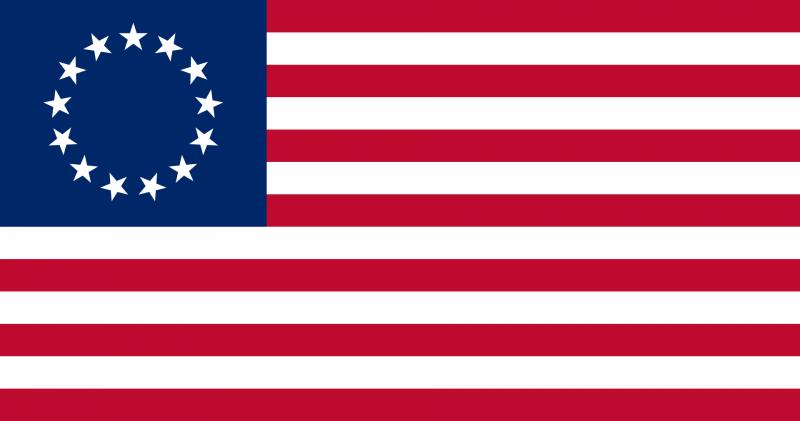 根據流傳廣泛的傳說,貝特西.羅斯縫製了第一面的美國國旗(Wikipedia/Public Domain)