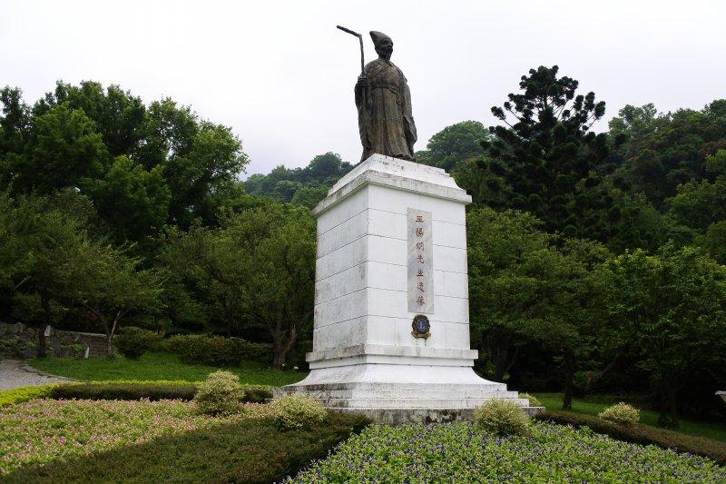 陽明公園王陽明雕像(圖由台北市政府提供)