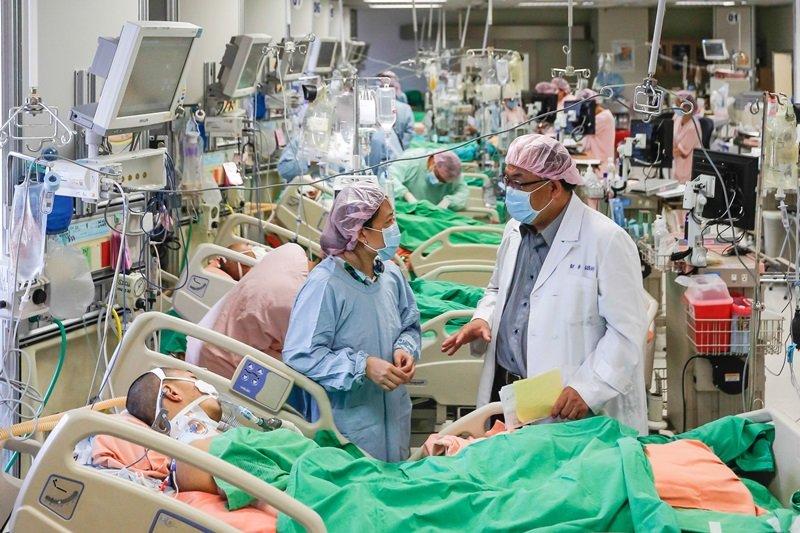 醫院一次湧進三十位八仙塵爆受難者。(資料照片/陳瑋農醫師提供)