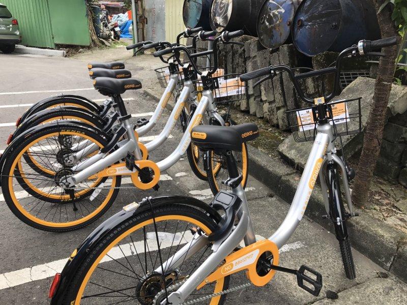 20170621-無樁共享單車oBike,不同於YouBike,標榜隨租隨停。(呂紹煒攝)
