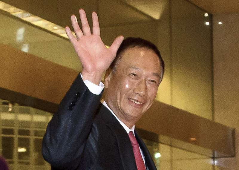 鴻海精密董事長、富士康科技集團總裁郭台銘(AP)