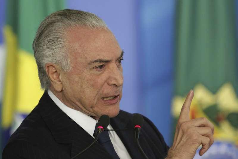 巴西總統特梅爾。(美聯社)