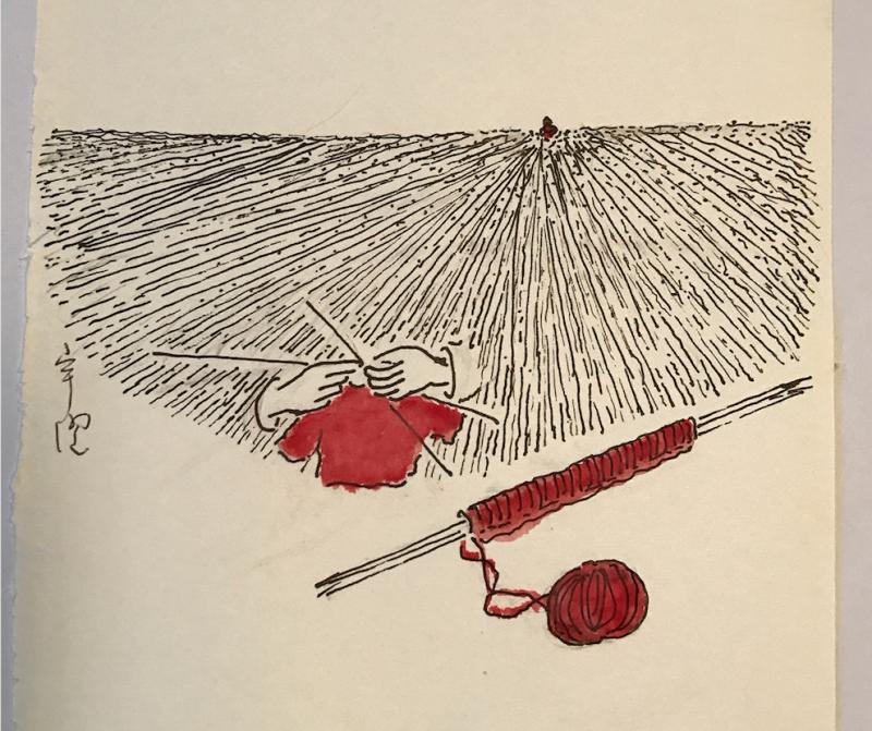《金宇澄作品選輯:輕寒‧方島‧碗》,《方島》插圖3(圖由東美出版提供)
