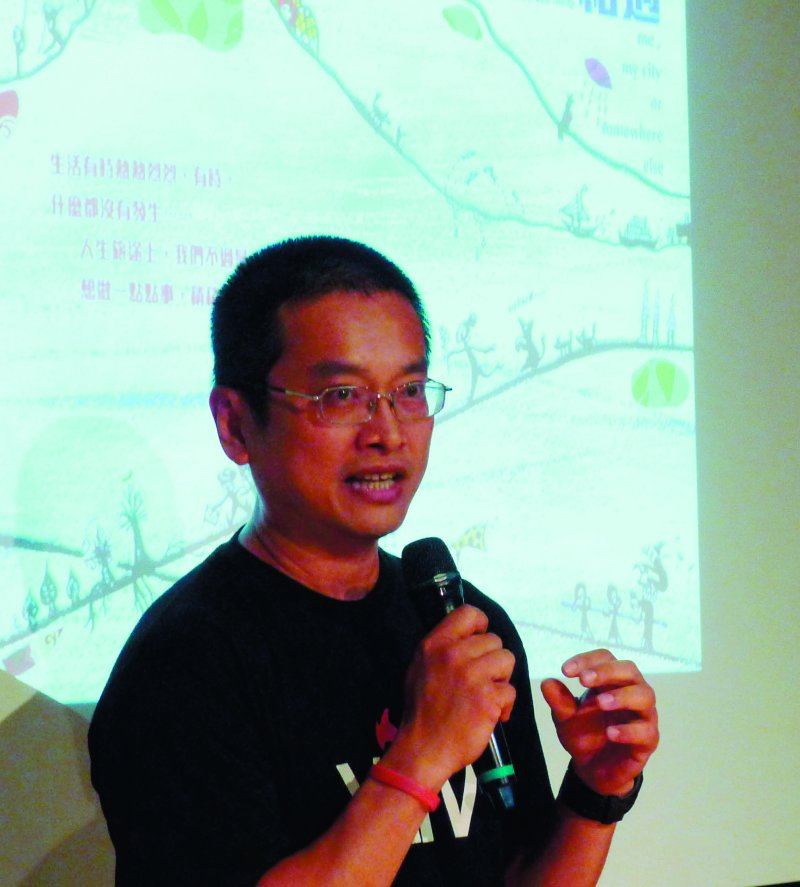 陳允中是馬來西亞華人,在香港教書,投入香港社會運動。(郭宏治攝)