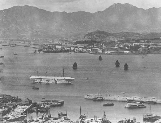 1905年停放添馬艦的港口。(wikipedia/Public Domain)