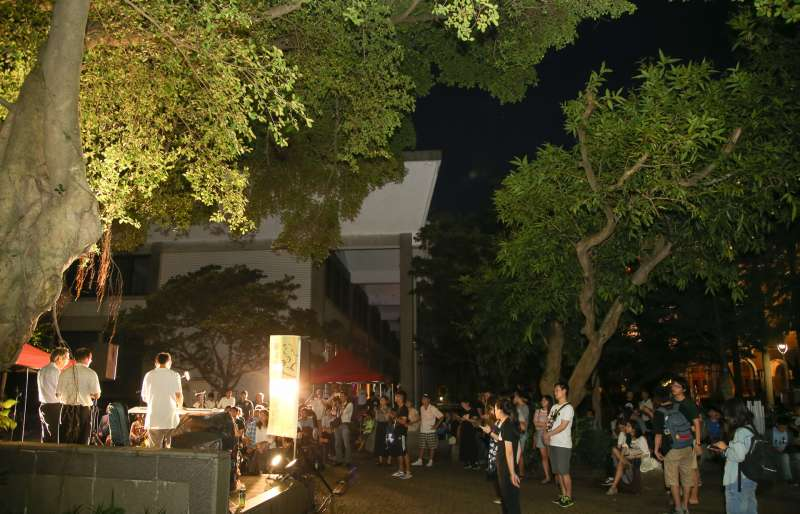 20170702陳文成逝世36週年紀念晚會,在台灣大學陳文成事件紀念廣場舉行。(陳明仁攝)