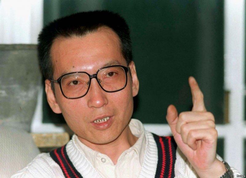 中國學者劉曉波在1995年3月接受採訪。(美國之音)