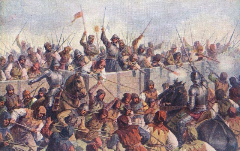 胡斯戰爭一景。(維基百科公有領域)