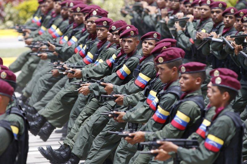 委內瑞拉5日國慶日閱兵,慶祝宣布獨立206周年。(美聯社)