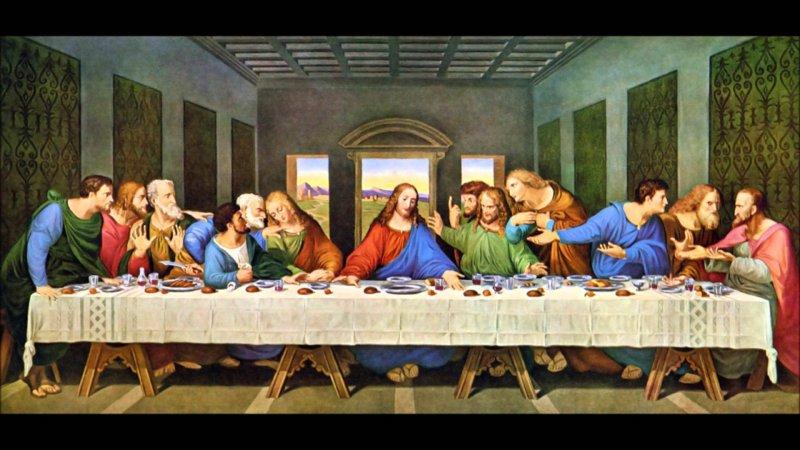 《最後的晚餐》是一幅廣為人知的大型壁畫,1980年被列為世界遺產。(圖/翻攝自youtube)