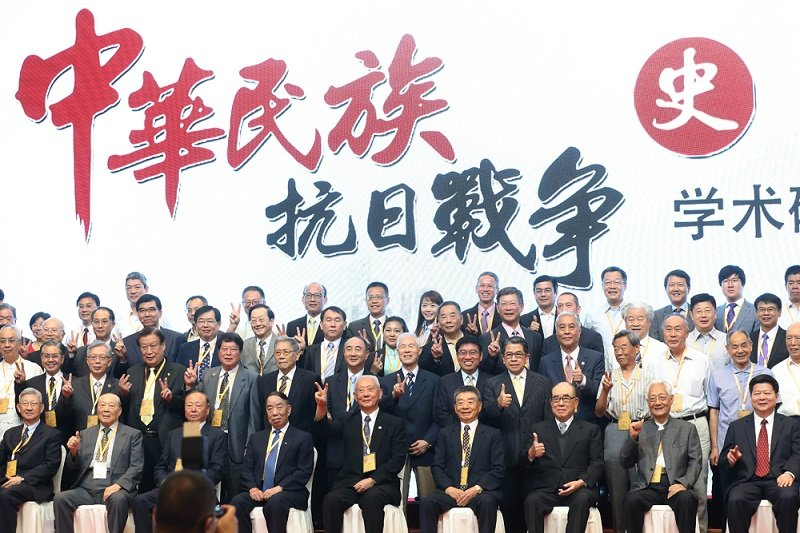 郝柏村在南京參加中華民族抗日戰爭研討會。(中新社)