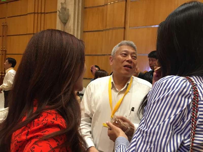 雙城論壇中,旺旺中時集團董事長蔡衍明在3天晚宴,都名列與會嘉賓,並與柯文哲同桌吃飯。(王彥喬攝)