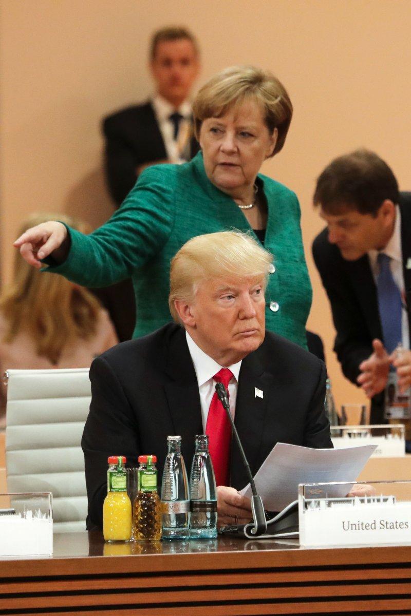2017年G20漢堡峰會落幕,美國總統川普在諸多議題上與其他19國不同調。(美聯社)