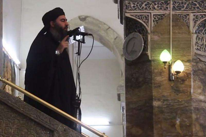 巴格達迪於2014年宣布成立「伊斯蘭國」(截自影片)