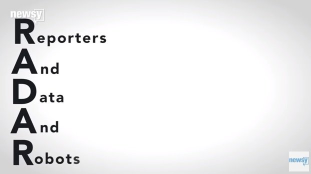 此計畫的名稱「RADAR」,由來是這五個英文字的開頭。(圖/截自youtube)